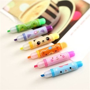 Sweet Girl Style 6 Colors Cute Animal Small Highlighter /Marker