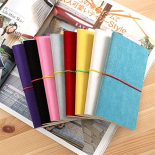 Sweet Girl Style Fashionable & Colorized, Suede Leather Note Book/ Note Pad