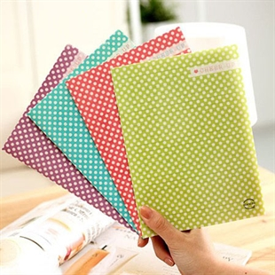 Sweet Girl Style Cute & Fashionable, with Dots Note Book 4pcs/pack