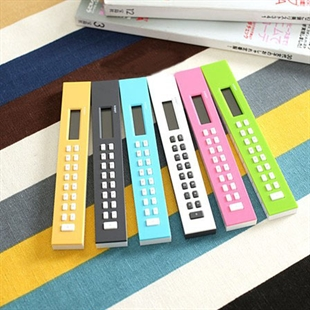 Sweet Girl Style Fashionable & Concise, Candy-colored, Ruler-shaped Calculator