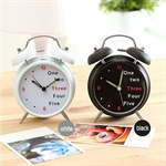 Sweet Girl Style Concise & Fashionable, Double Bell, Digital Mute Alarm Clock