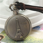 HOTER® Vintage Tower Pocket Watch Necklace Coat Chain