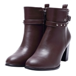 Veni Masee® New Ladies British Style PU Leather Ankle Boots