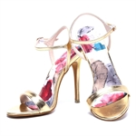 Veni Masee® Ladies Womens Floral Printing High Heel Evening Party High Heeled Sandal High Heel Office Shoes