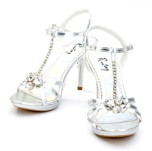 Veni Masee® Ladies Womens Sexy Crystal Party Prom Bridal Evening Fashion High Heels Sandals