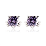VENI MASEE® Mini Faux Rhinestone Cat Earrings, Bling Jewelry, Girls Favorite, Stud Earrings, Gift Ideas