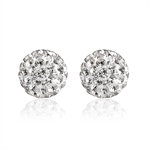 VENI MASEE® Crystal Ball Stud Earrings-6mm/8mm/10mm, Bling Jewelry, Fashion And Sophisticated, 925 Sterling Silver, Gift Ideas