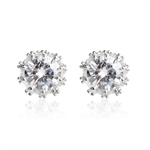 VENI MASEE® Round Cubic Zirconia Stud Earrings, Stud Earrings, Rhinestone Earrings, Gift Ideas