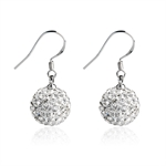 VENI MASEE® Crystal Drop Ball Shape Ending Hook Earrings, Bling Jewelry, Fashion And Sophisticated, Gift Ideas