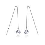 VENI MASEE® Rhinestone Box Chain Earrings, Bling Jewelry, Fashion And Sophisticated, 925 Sterling Silver, Gift Ideas