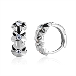 VENI MASEE® Bling Jewelry, Fashion And Sophisticated, Women's Cute Rhinestone White Flowers Earrings, Gift Ideas