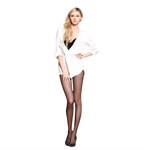 VENI MASEE Silk Reflections Women's 40D Shimmer Pantyhose/Stocking with Control Top Size M/L
