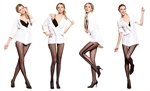 VENI MASEE Lady Lace Jacquard Stockings Racy Pantyhose with Control Top