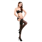 Sexy Women's Lace Top Sheer Thigh High Silk Stockings
