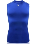SUPRE FEATURING Fit Men's PRO Ultimate Tight Sleeveless Crew- Royalblue
