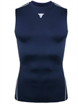SUPRE FEATURING Fit Men's PRO Ultimate Tight Sleeveless Crew- Drakblue