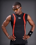 SUPRE FEATURING Men's Top- Grade Compression Sleeveless Crew- Black