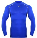 SUPRE FEATURING Men's Pro Vent Ultimate Tight Long Sleeve Crew Neck Top- Royalblue