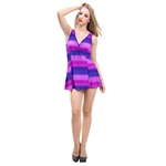 AYOZEN Perfect Color Droplet Slim Belly & Waist Cover One Piece Swimsuit