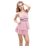 AYOZEN Pinky Pinky Polka Dot One-Piece Swimsuit Pink