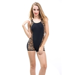 HOTER® Ladies Sexy Leopard One Piece Swimming Costume Swimsuits, UK Size 12, 14, 16