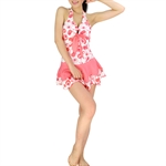 HOTER® Cute Ladies Orange Polka Dots Belly Perfect Cover One Piece Swimsuits, UK Size 10,12