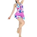 HOTER® Cute Ladies Polka Dots Belly Perfect Cover One Piece Swimsuits, 2 Colors, UK Size 10,12