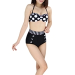 H:oter® Polka High Waisted Bikini Swimwear
