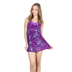 VENI MASEE&Reg; Womens Circle Printing Waist Cover & Bodyline Best Shown One-Piece Swimsuit