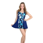 VENI MASEE&Reg; Waist Cover & Bodyline Best Shown Flower Printing Womens One-Piece Swimsuit