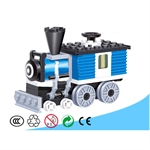 Kid's Classic Train Locomotive Building Blocks, 59 pcs Inside