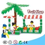 Fruit Shop Plastic Blocks, 114 pcs Inside