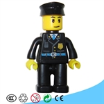 Policeman Doll - Plastic Blocks for Children