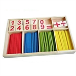 Wooden Numbers and Blocks Gaming Stick