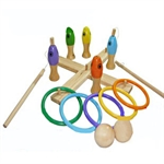 Three Games in One - Ringtoss, Fishing and Bowling, Price/set