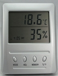 Digital LCD Temperature and Humidity Meter with Clock