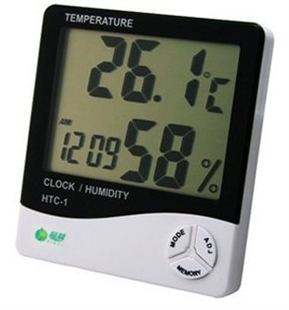 Wireless Indoor Thermometer and Hygrometer with Atomic Clock