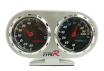 Vehicle-mounted Two-in-one Thermometer and Hygrometer, Stopwatch Design Thermometer and Hygrometer