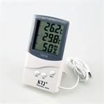 Digital LCD Temperature and Humidity Meter With Remote Probe
