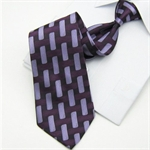 Lrzyou®  Men's Purple Plaid Sateen Tie, Gift Idea, Gift Box Included