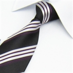 Lrzyou® Men's Small Stripe Tie, Gift Idea, Gift Box Included