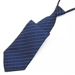 Lrzyou® Men's Blue Stripe Convenience Tie, Gift Idea, Gift Box Included