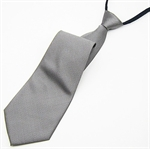 Lrzyou® Men's Grey Solid Convenience Tie, Gift Idea, Gift Box Included