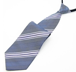 Lrzyou® Men's Grey Stripe Convenience Tie, Gift Idea, Gift Box Included
