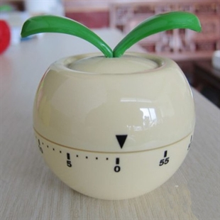 Hoter® 60-Minutes Cute Beige Grass Kitchen Timer, Mechanical Timer, Price/Piece, FOUR FOR ONE FREE
