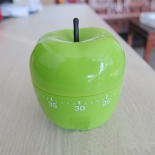 Hoter® 60-Minutes Green Apple Kitchen Timer, Mechanical Timer, Price/Piece, FOUR FOR ONE FREE