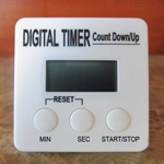 Hoter® White Simple-style Digital Countdown Kitchen Timer, Minutes & Seconds, Large Digital Display, Price/Piece