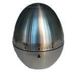 Hoter® 60-Minutes Stainless Steel Egg Kitchen Timer, Mechanical Timer, Price/Piece, FOUR FOR ONE FREE