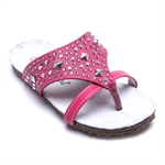 VENI MASEE® NEW SUMMER Artificial Beading Leather Inside Girls Flip Flops Kid Sandals