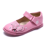 VENI MASEE® Fashion Princess Butterfly Embroidered Leather Inside Girls Mary Jane